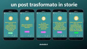 trasformare post in storie instagram