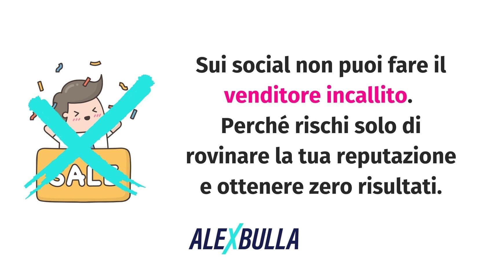 il social selling non è vendita aggressiva
