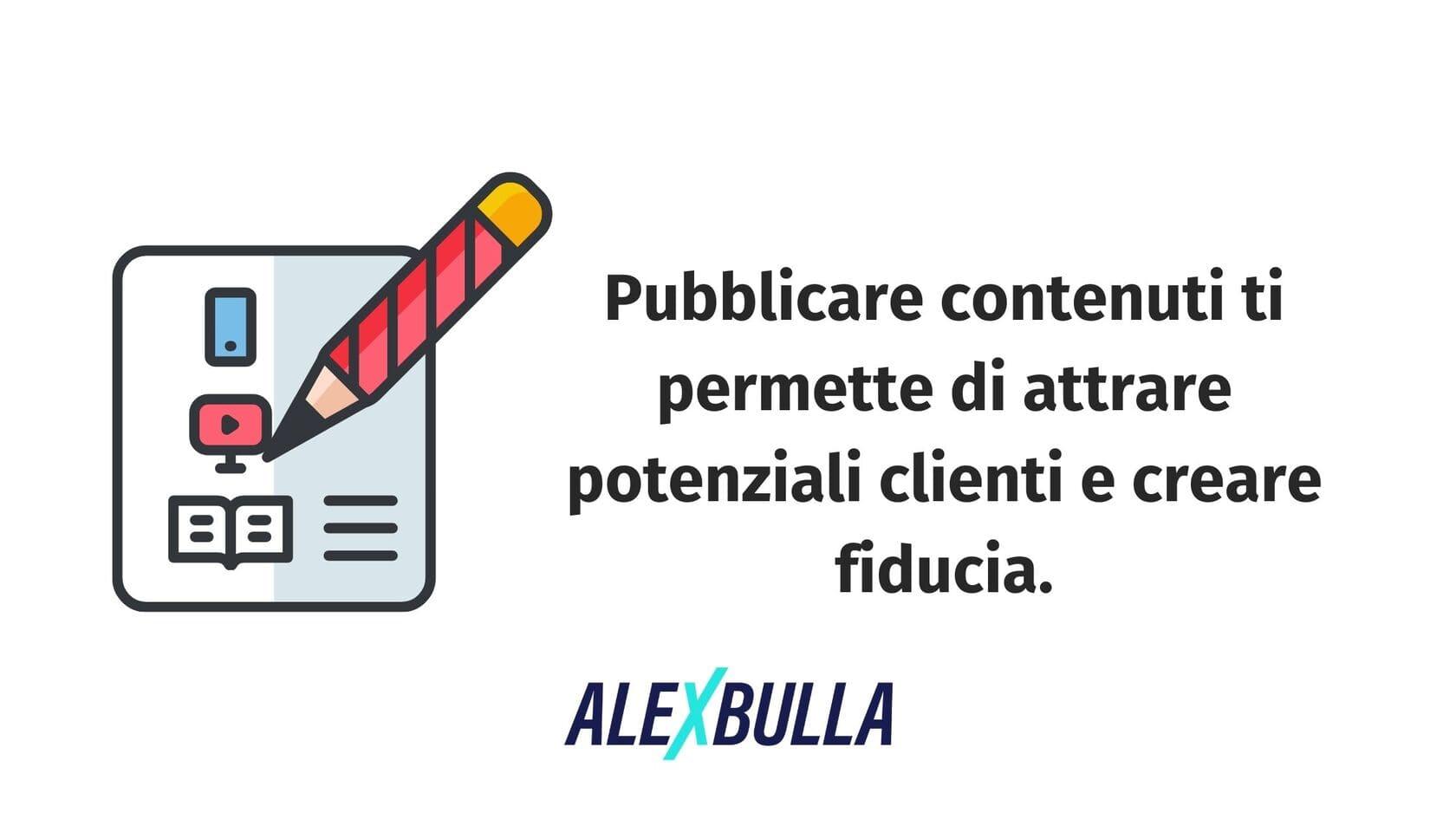 pubblicare contenuti per attrarre potenziali clienti sui social media