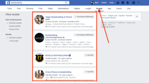 Come filtrare la ricerca Facebook per gruppi